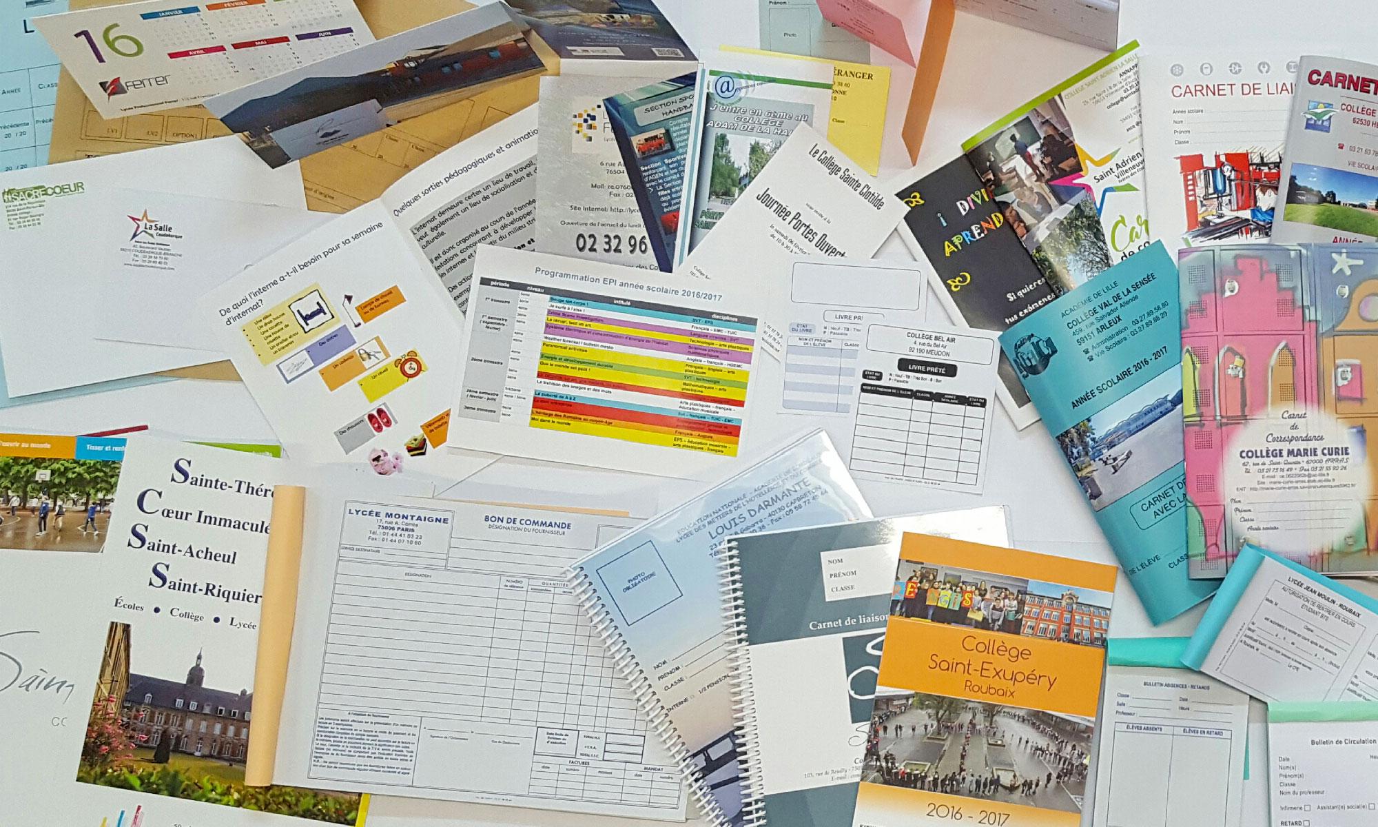 imprimés scolaires et administratifs