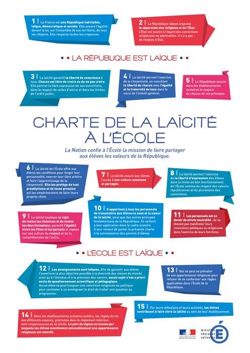 Charte de laïcité en couleurs