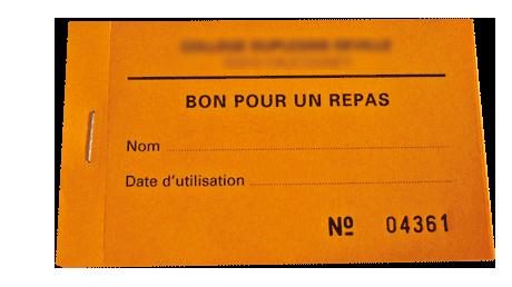 Ticket repas standard