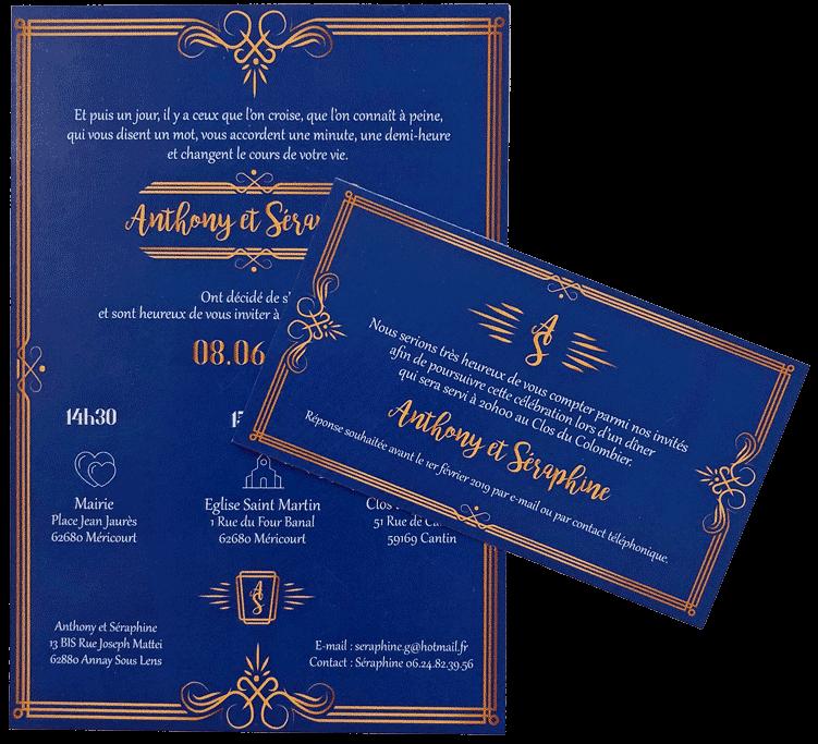 Faire-part et invitation de mariage