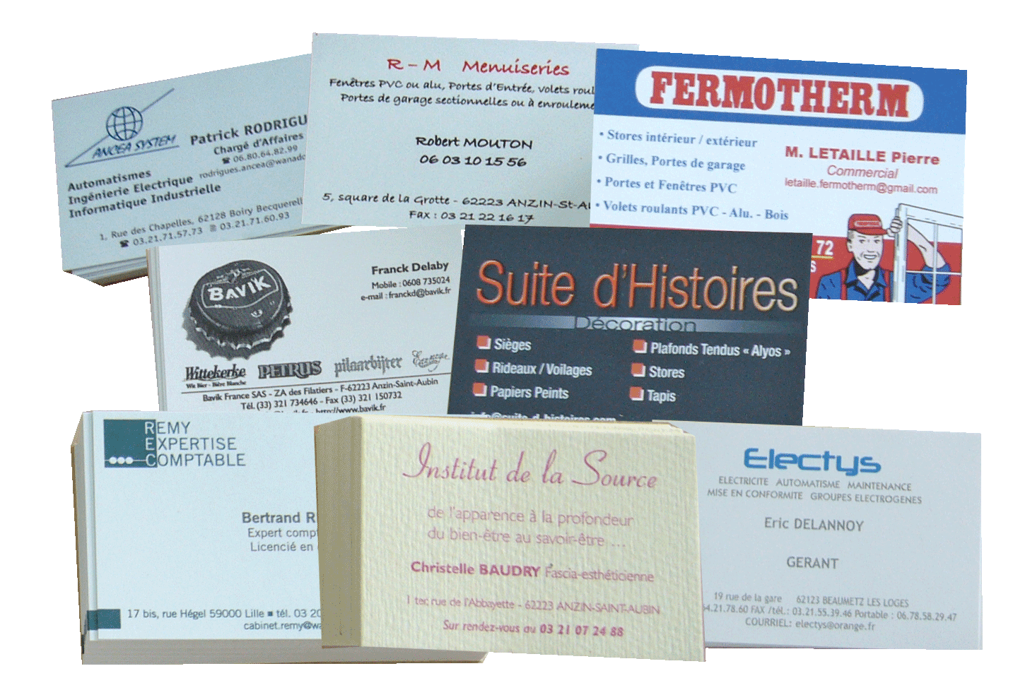 montage cartes commerciales